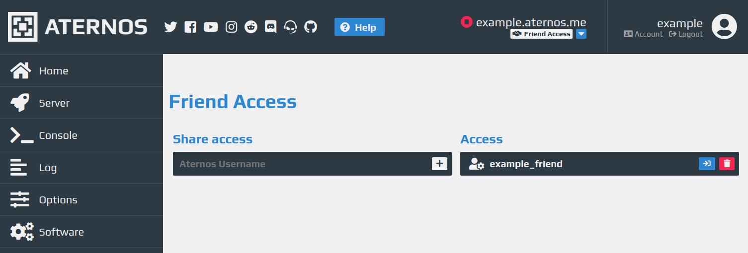 Friend Access – Aternos